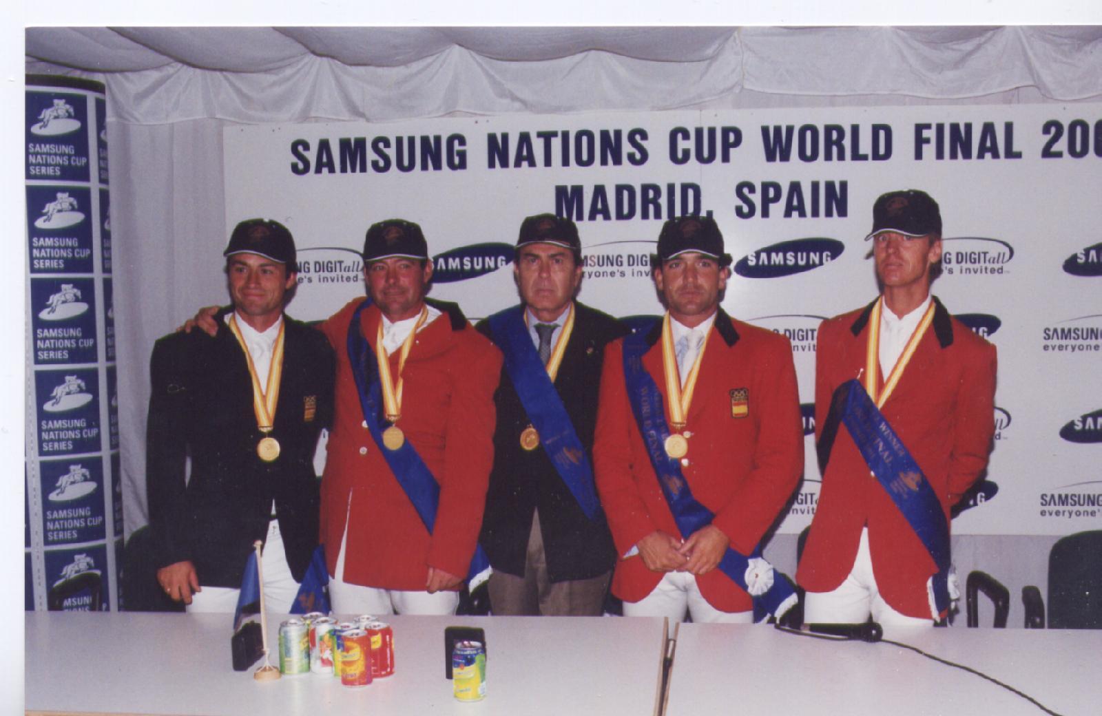 Final Samsung Madrid 2001: J. D.  Gª Trevijano, C. Torres, A. Segovia, F. Sarasola y R. Latham