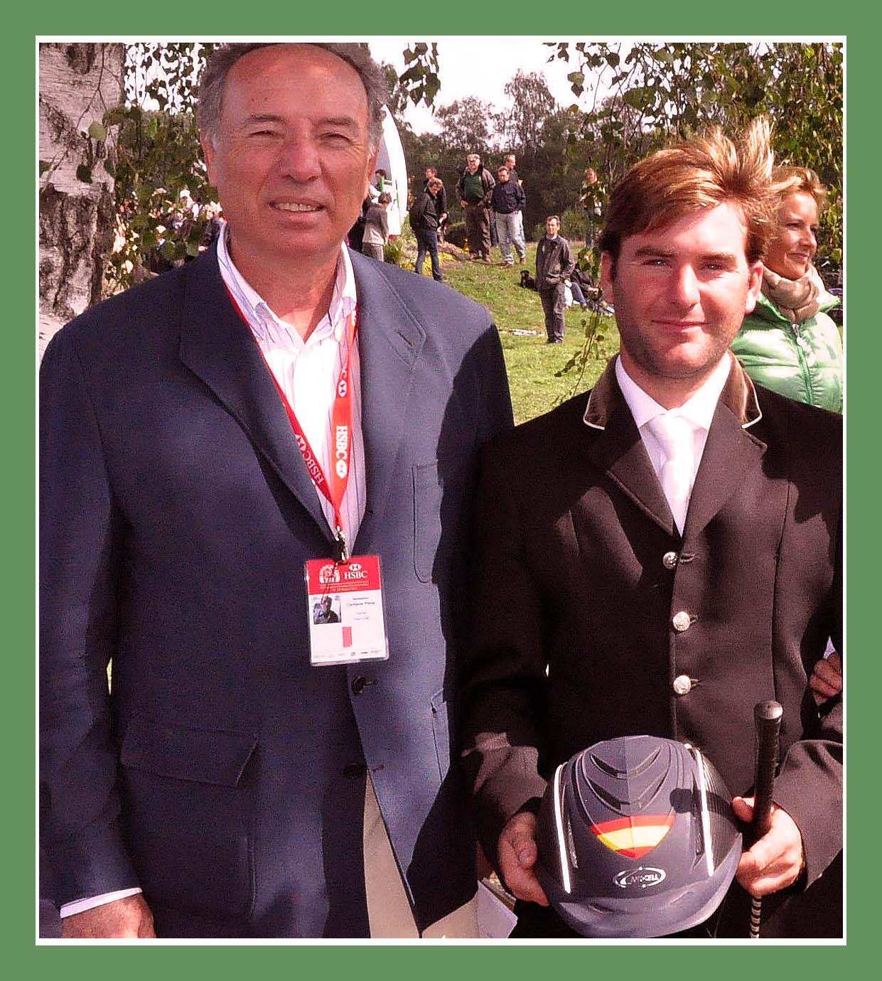 Antonio Campos Peña (criador y propietario de IBERÒN) y Carlos Díaz