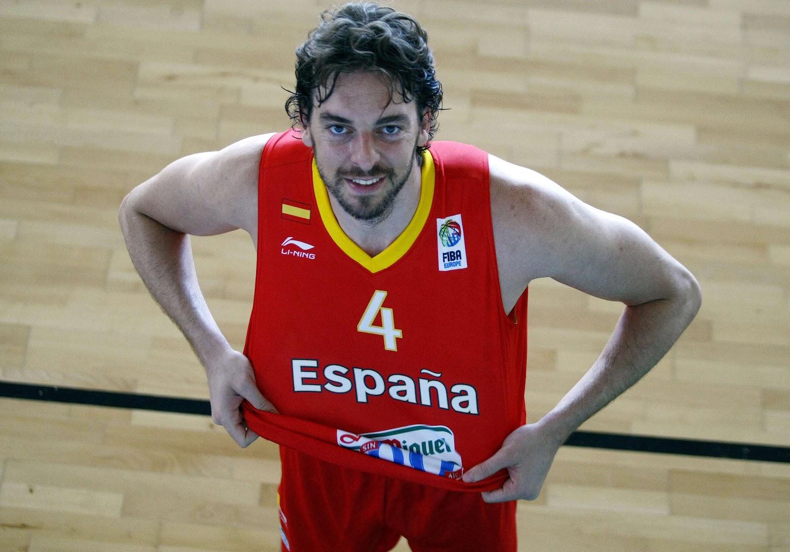 Pau Gasol. Foto selección de baloncesto Londres 2012