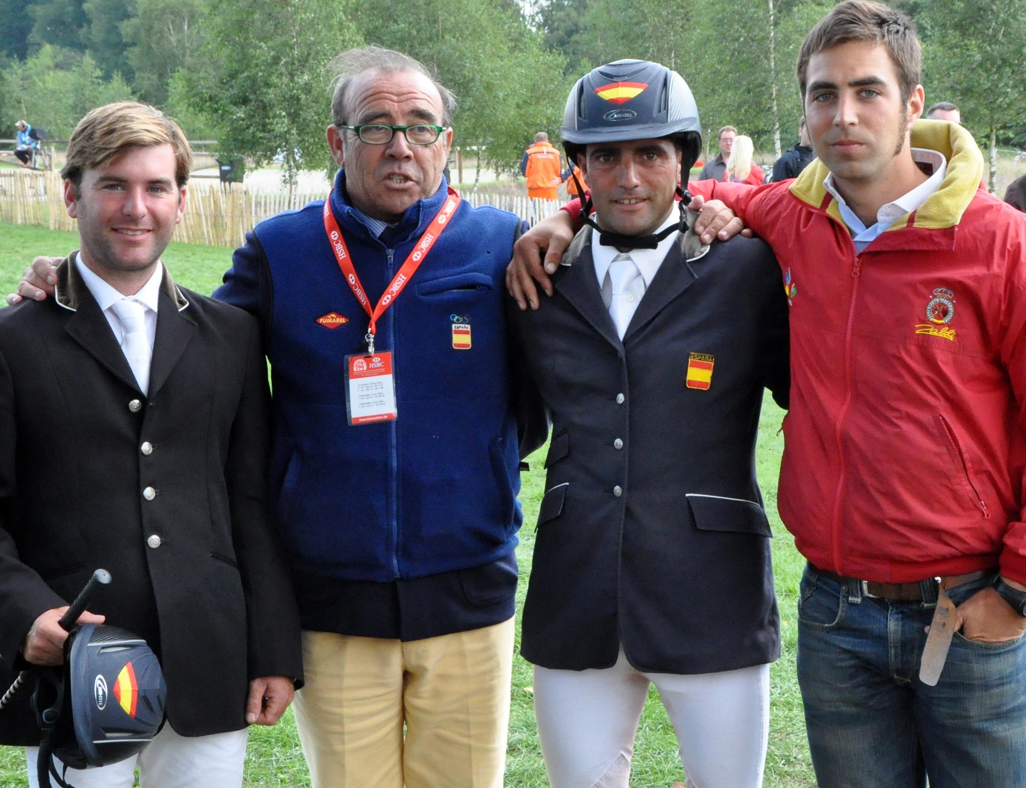 C. Díaz, J. M. Pérez Arroyo, A. Hermoso y M. Senra en el Campeonato de Europa 2011