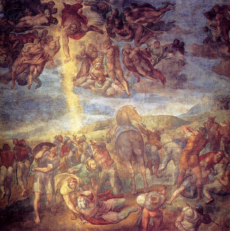 """""""La conversión de San Pablo"""" de Miguel Ángel"""