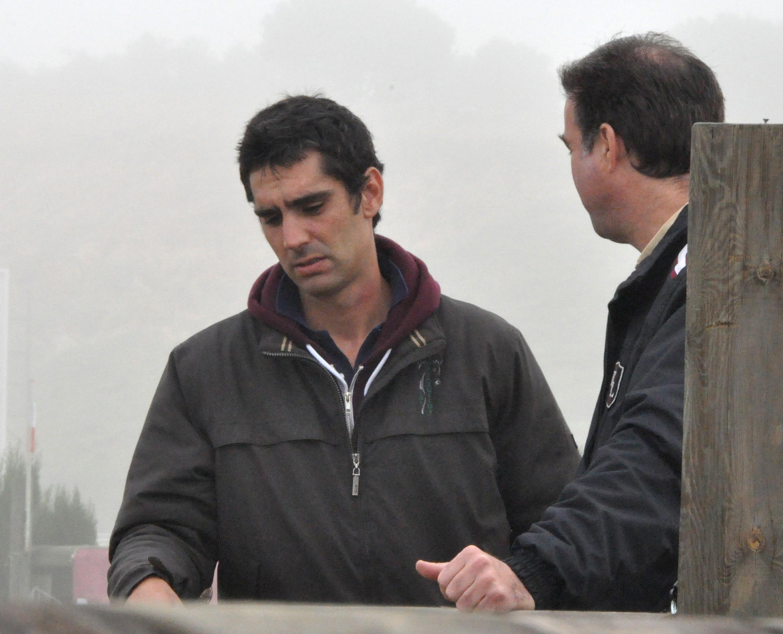 Sebastián Mateu y Jose Mª Parias en el Gran Hipódromo de Andalucía