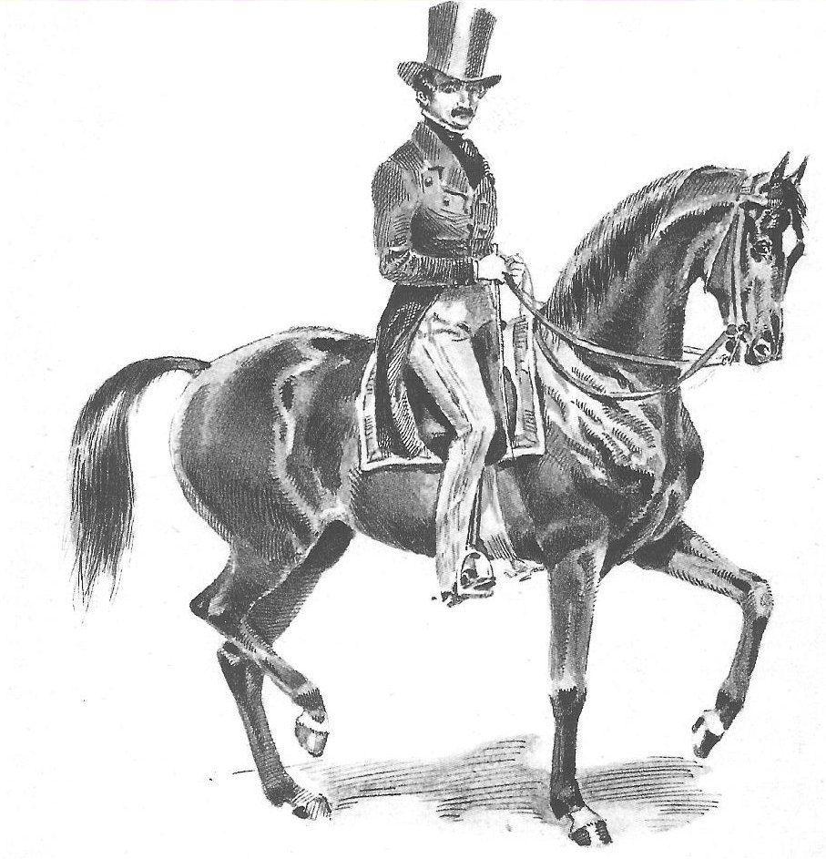 """El maesto Francois Baucher (1796-1877): """"mano sin pierna - pierna sin mano"""""""