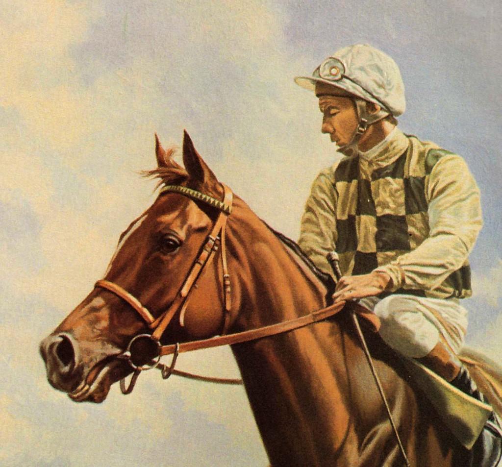 DAHLIA con L. Piggott. Pintura de Roy Miller