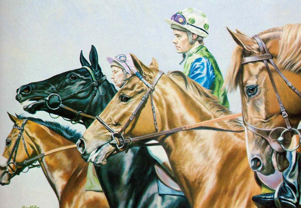 El jockey Brent Thomson con los colores de Sangster