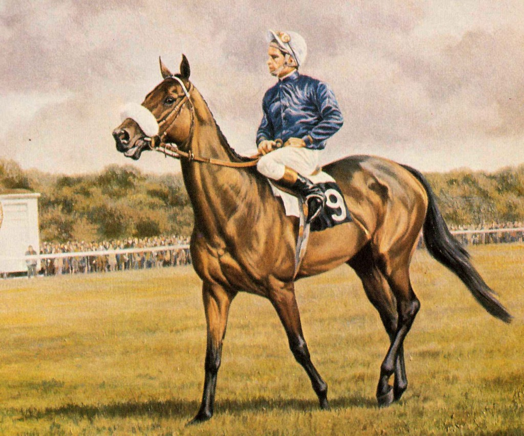 HENBIT con W. Carson. Pintura de Roy Miller