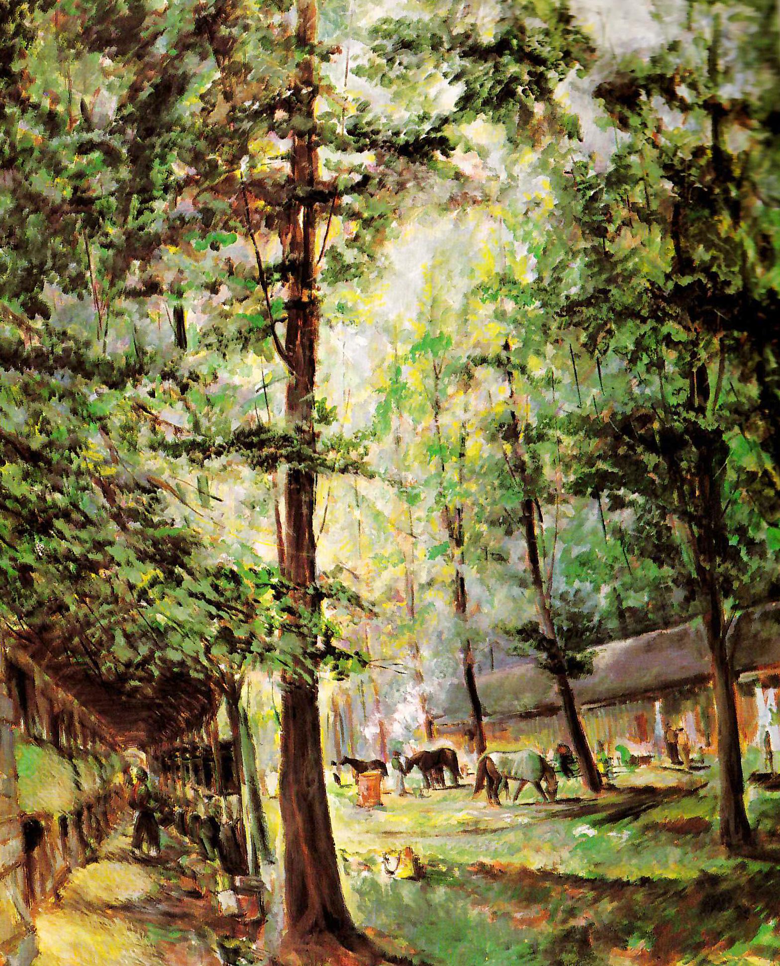 Sararatoga. Pintura de John  K. Feeback