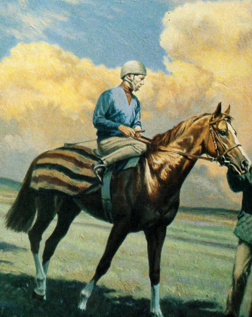THE MINSTREL con L. Pigott. Pintura de Roy Miller