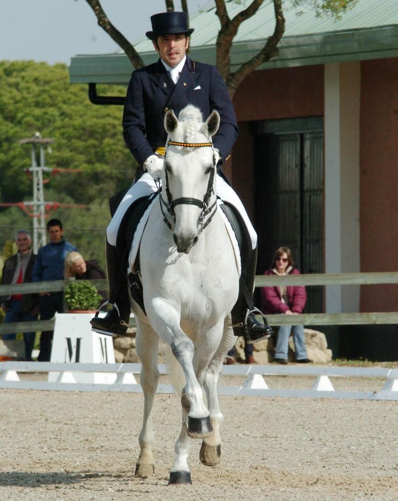 Claudio Castilla con JADE en Montenmedio