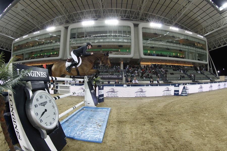 Scott Brash con H. SANCTOS. Foto de la Global Champions Tour