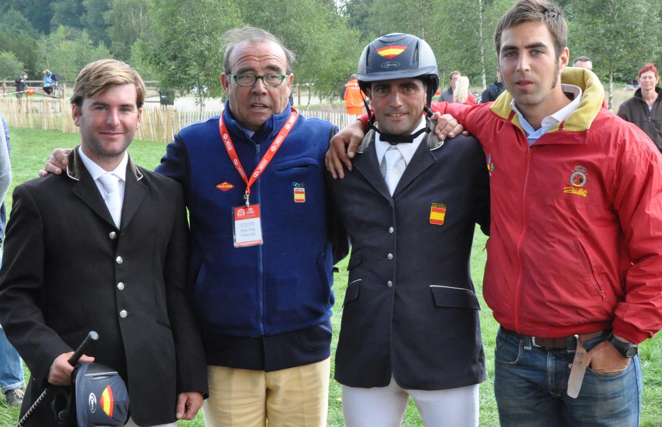Carlos Díaz, José M. Pérez Arroto, Alber Hermoso y Manu Senra en el Campeonato de Europa 2011