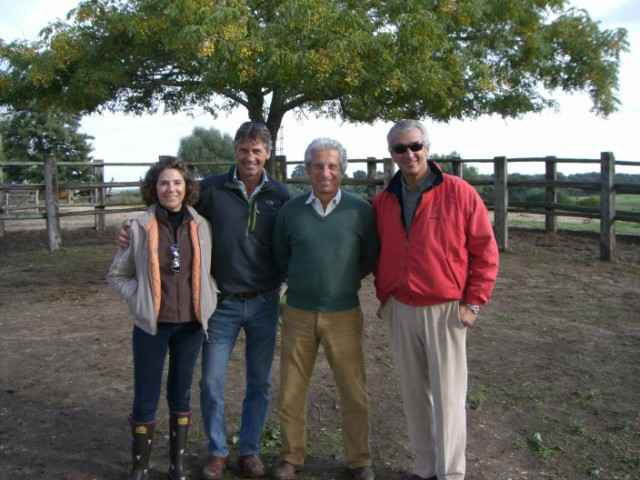 Ana Beca, Andrew Nicholson, Ramón Beca y Luis Álvarez Cervera