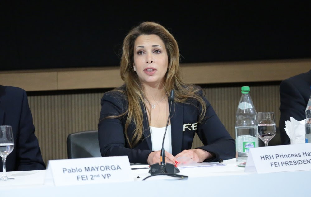 Photo caption: FEI President HRH Princess Haya at the Extraordinary General Assembly which took place on 29 April 2014 in Lausanne (SUI). © Germain Arias-Schreiber/FEI