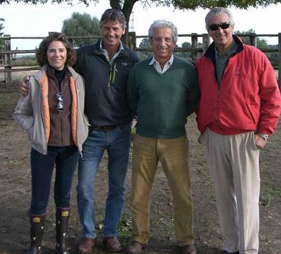 Ana Beca, Andrew Nichoñlson, Ramón Beca y Luis Álvarez Cervera