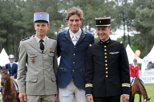 Donatien Shauly. Maxime Liviio  y Thilbat Valette. Foto de saumur.org