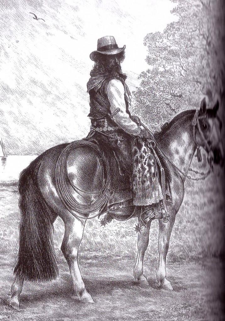 La Pampa. En un overo rosao...1860