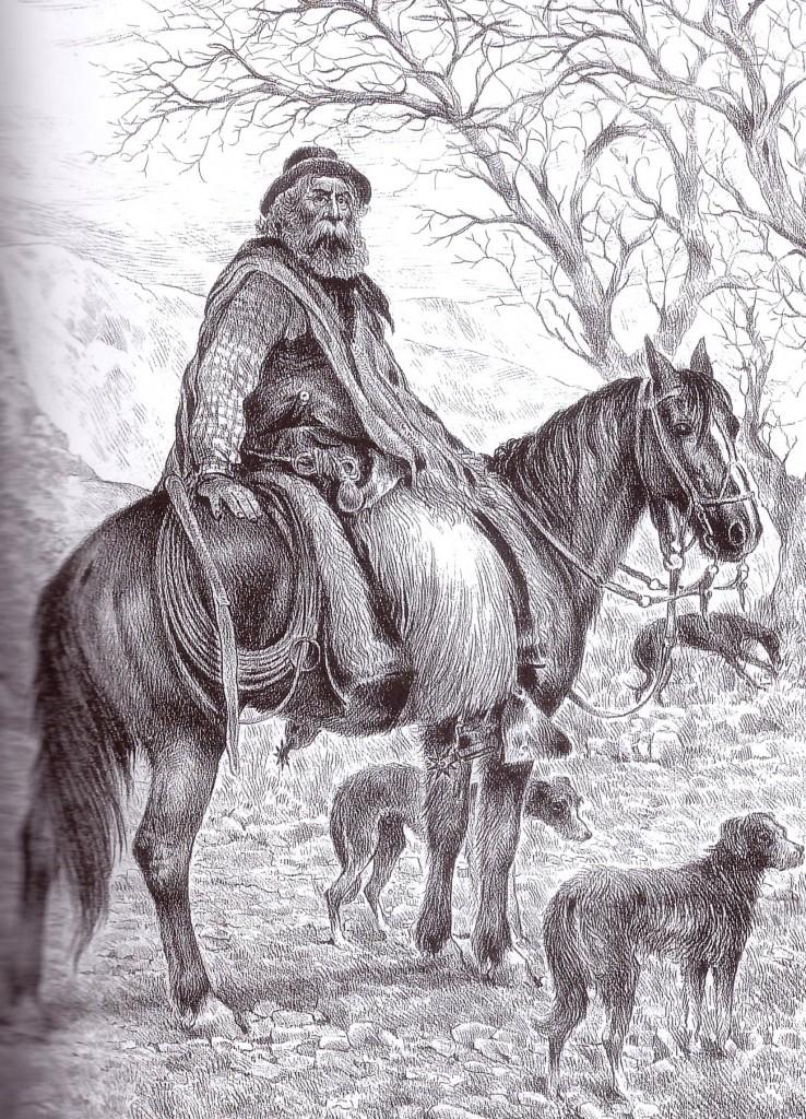 Región de Cuyo. El gaucho de Los Alamitos. 1890