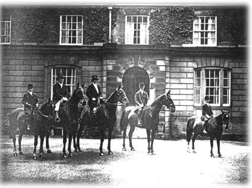 La familia Ramdesen Fiundadores del completo de Bramham. Foto de principios del siglo pasado