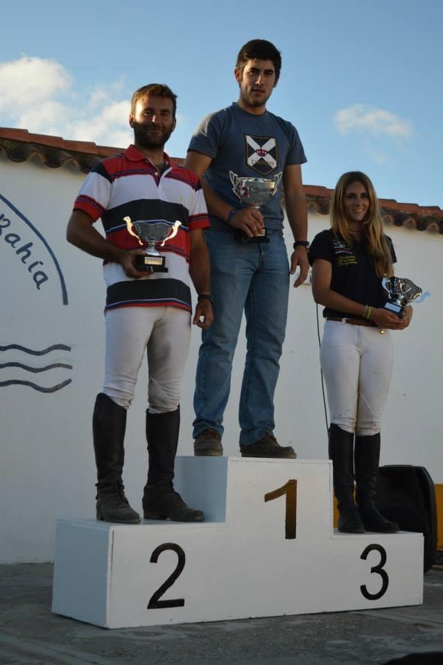 Podium del 1 estrella del completo nacional de Puerto Real (Jinetes de La Bahía)