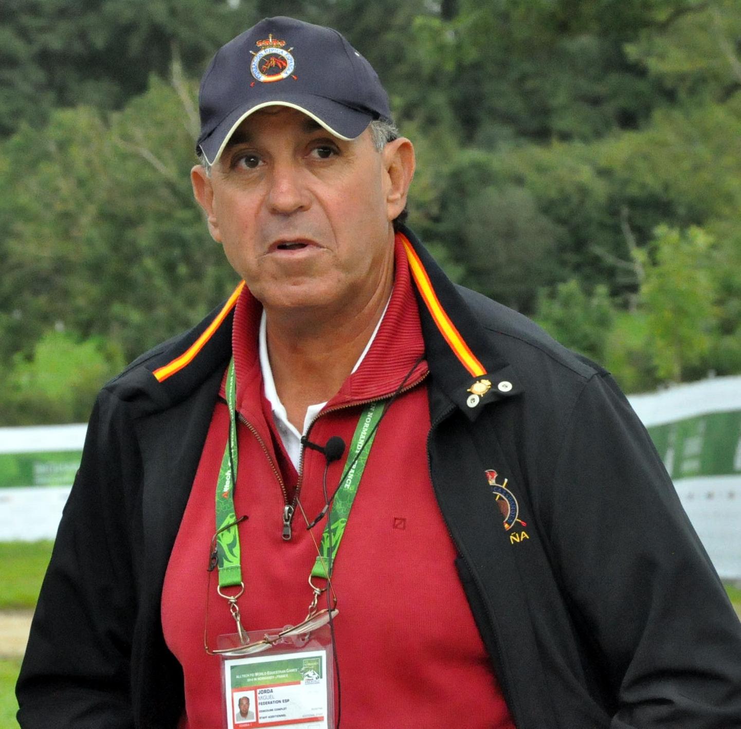 El entrenador de la doma del completo español M. Jordá