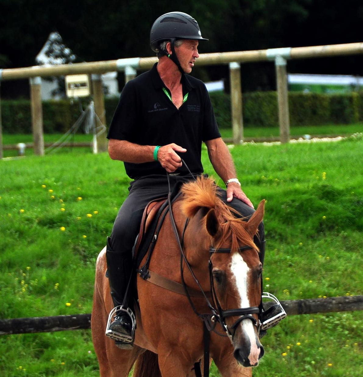 Andrew Nicholson con el caballo de la cría del español Ramón BECA NEREWO (CDE) en los JEM 2014