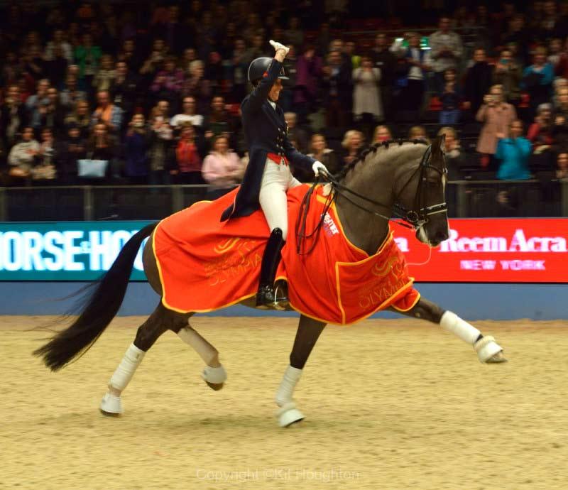 Chralotte Dujardin con VALEGRO en el Olympia. Foto de la web del concurso