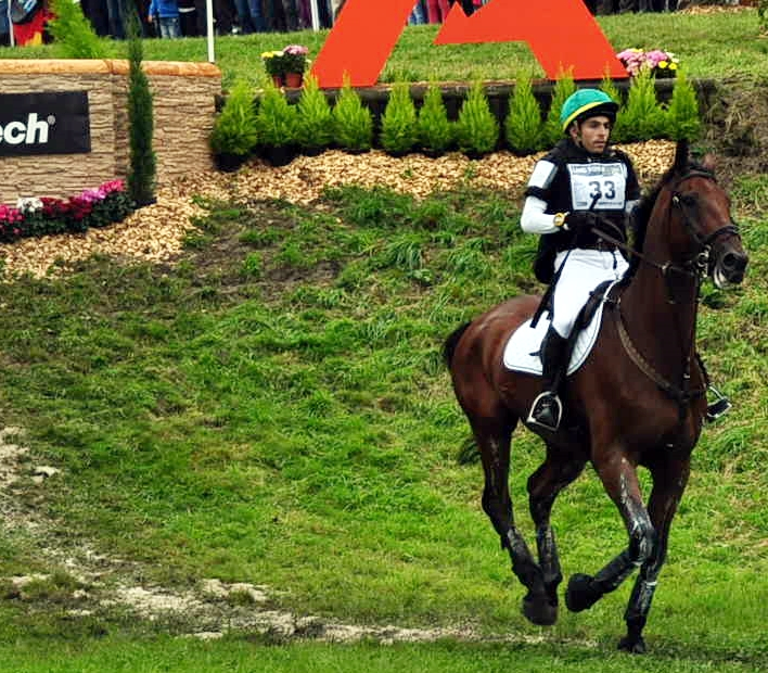 El brasileño Gabriel Figuereudo Silva con GRASS VALLEY en los JEM de Normadía. Fue el caballo con el que Todd fue bronce por equipos 4 años antes en los de Kentucky