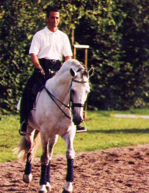 Luis-Lucio en un entrenamiento en Aachen para los JJ.OO de Sidney 2000