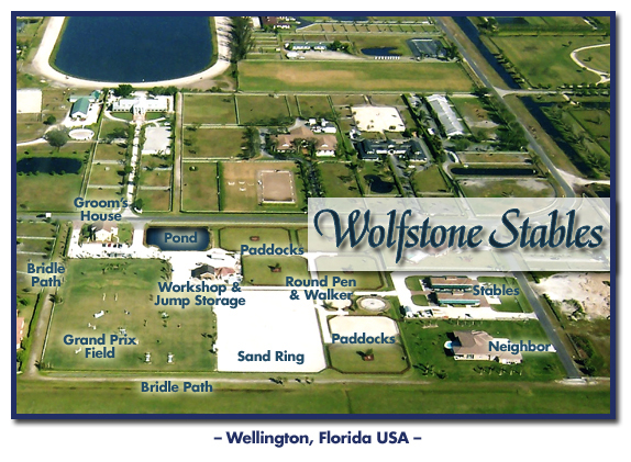 Wolfstone Stables en WEllington donde está ubicada DOBRA