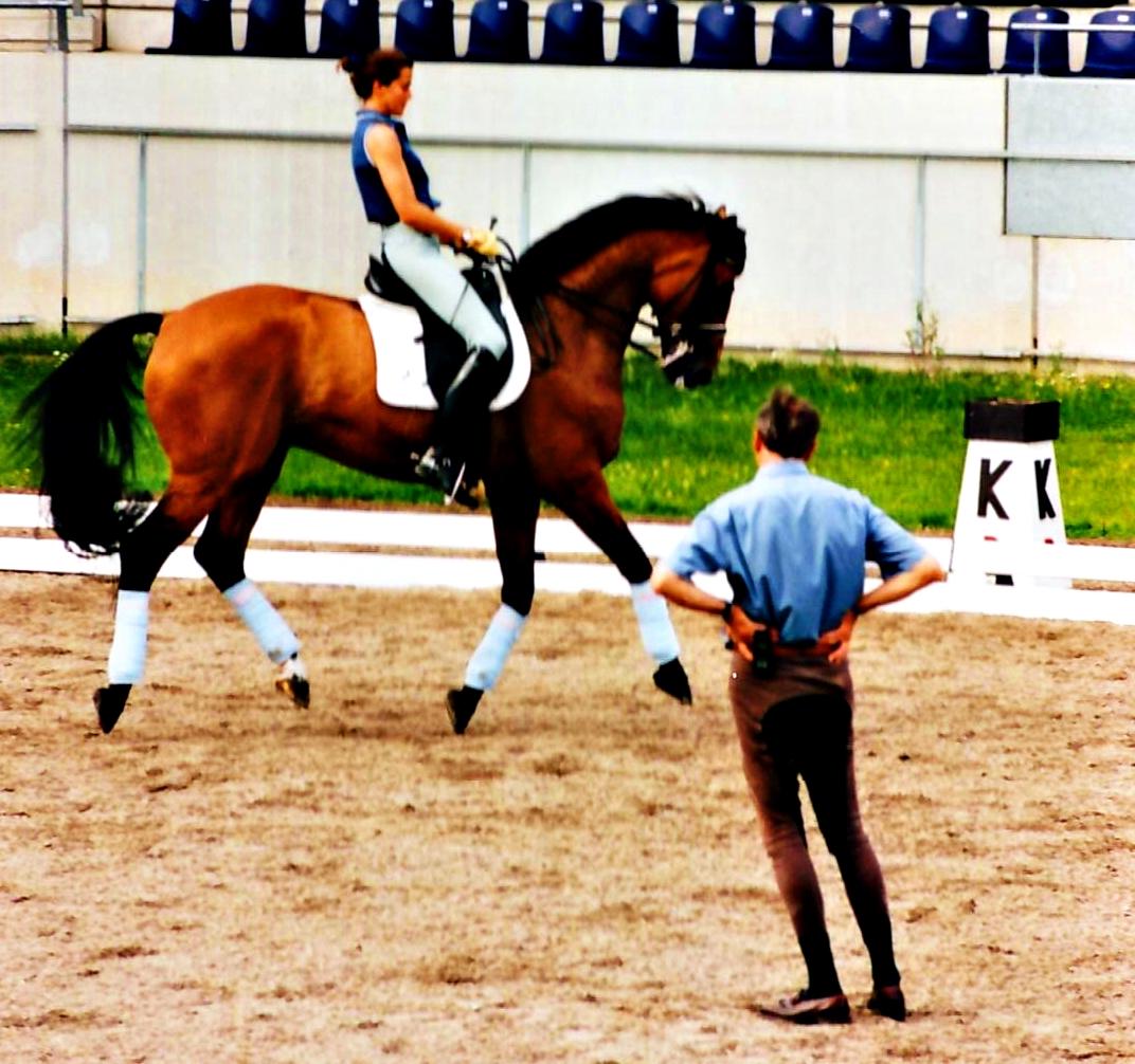 B. Ferrer Salat entrenando con J. Bemelmans eb la cuaretena de Aachem para los JJ.OO de Sydeneu 2000