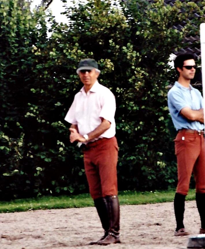 Nelson y Rodrigo Pessoa entrenando a los jinetes de salto de Arabia S.