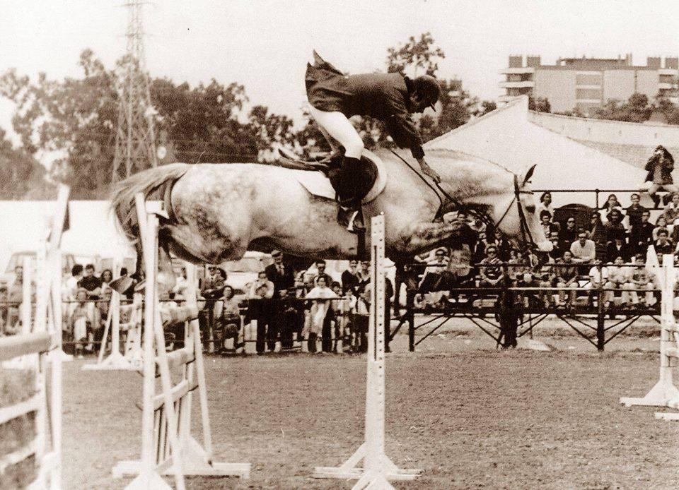Francisco Caldeira con el caballo nacional español de la cría de Pedro Beca HERNING