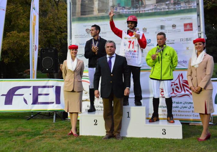 El podium individual. Foto de la FEI de Alessandra Giorgio
