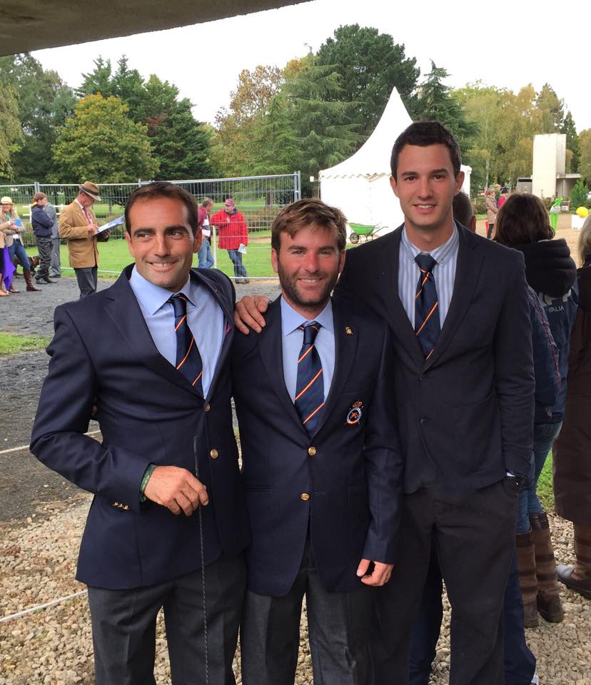 Los tres españoles que compitieron el año pasado en el Mondial du Lion: Albert Hermoso, Carlos Diaz y Esteban Benítez