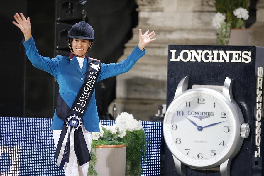Luciana Diniz. Foto en Viena de la Global Champions Tour