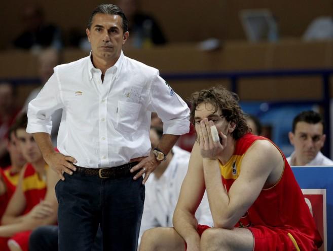 Sergi Scariolo y Pau Gasol. Foto de el mundo.es
