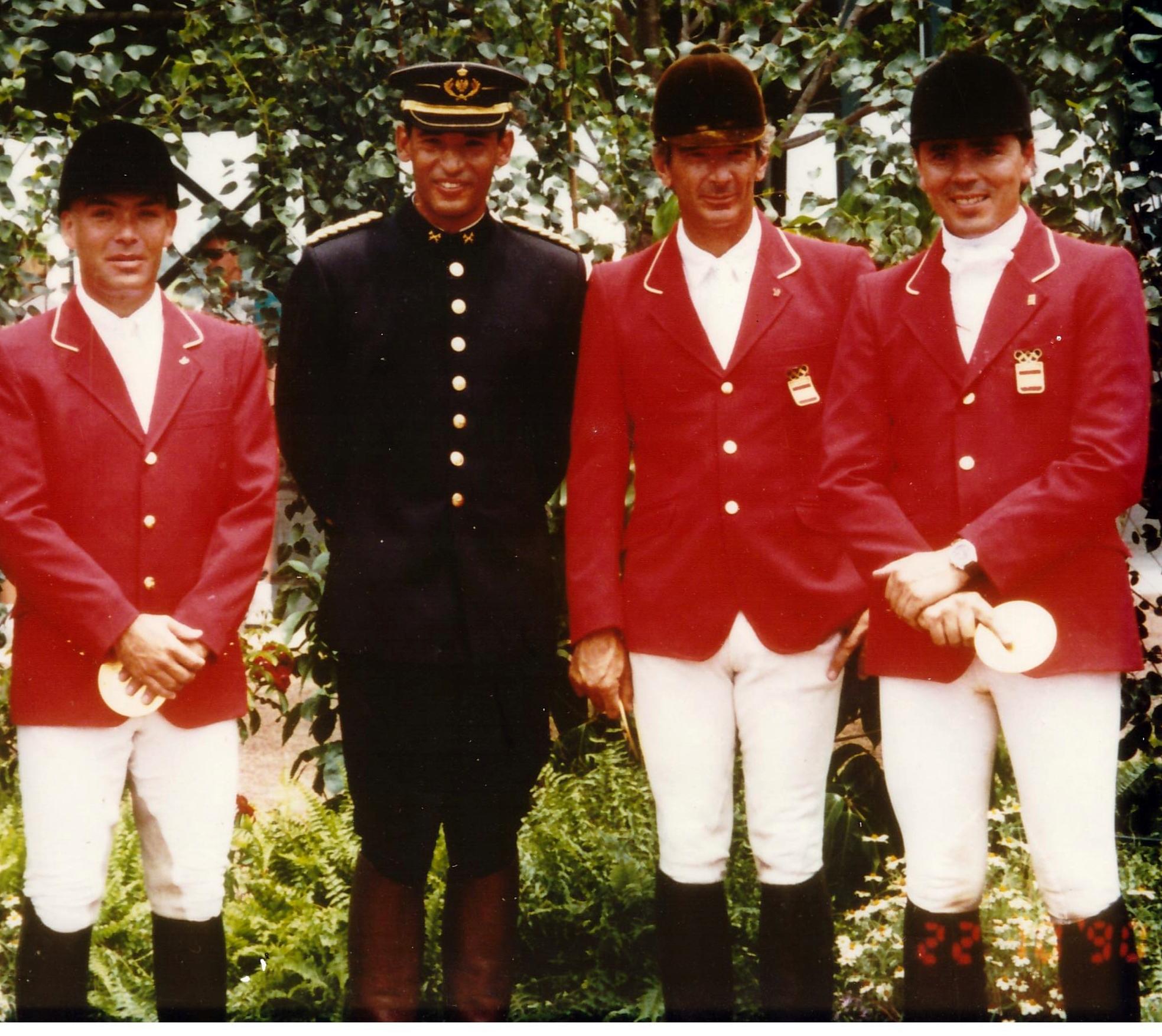 E. Sarasola, S. Centenera, L. Álvarez Cervera y J. Revuelta en el completo de los JJ.OO de Atlanta en que como equipo fueron diploma