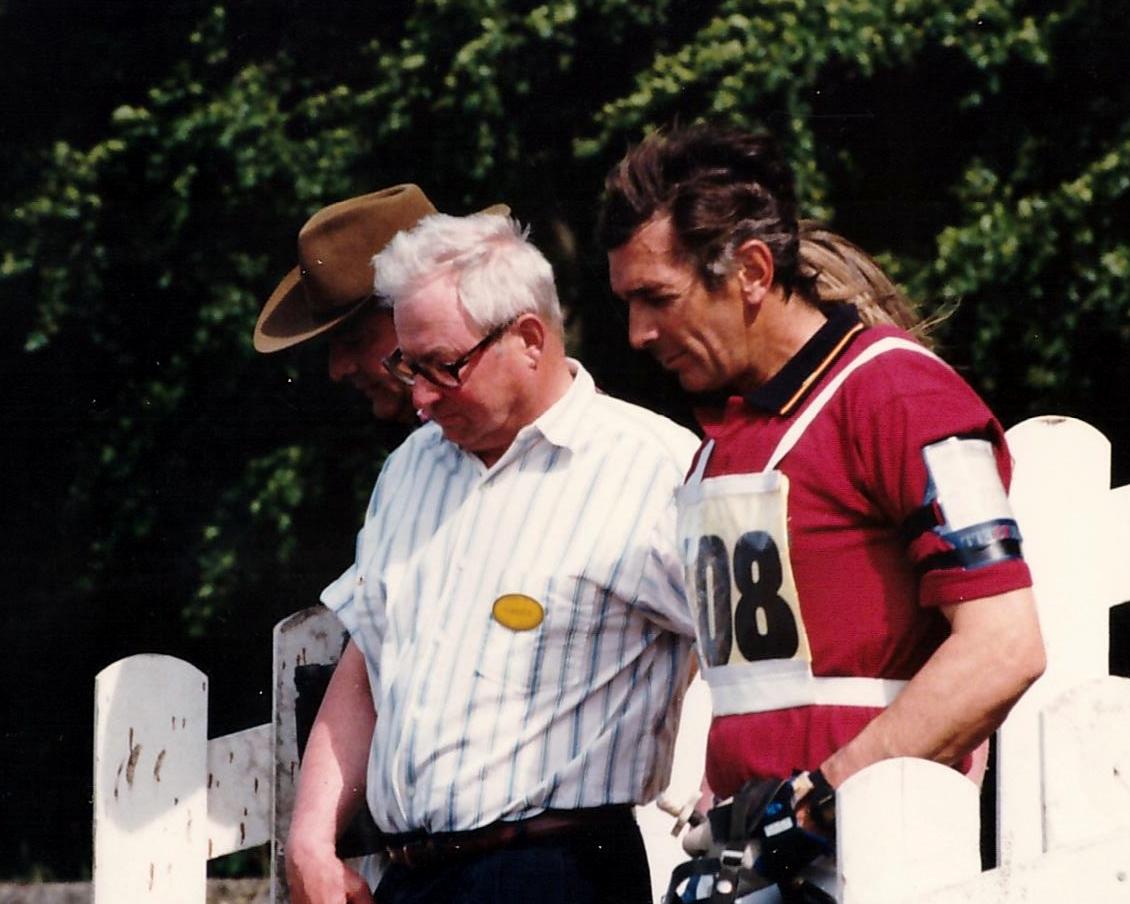 Lars Sederholm y Luis Álvarez Cervera en el CC***I Bramham 1996