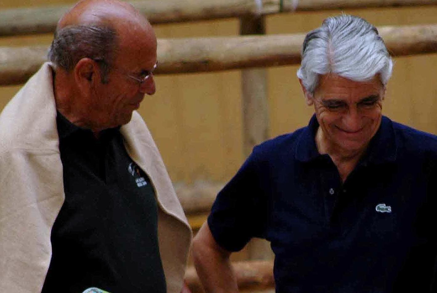 Alejandro Maldonado padre y Pepe Arango en Final de Ancades en Jerez