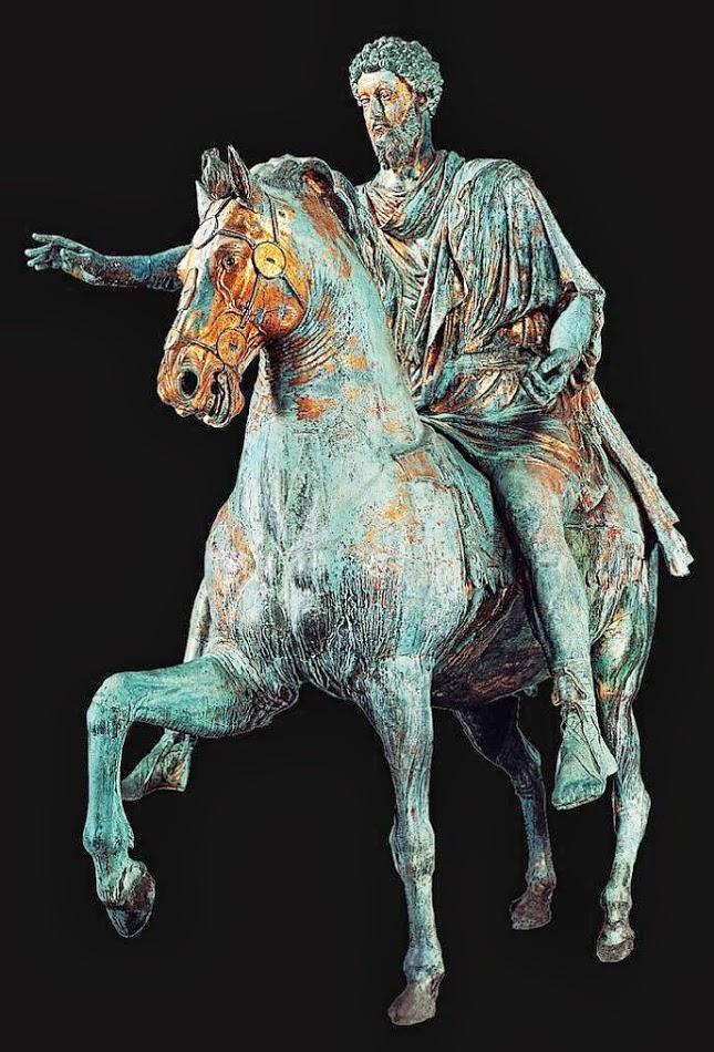 Estatua de bronce de Marco Aurelio en los  Museos Capitolinos