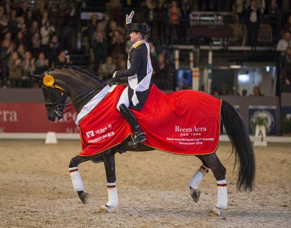Isabell Werth con WEIHEGOLD. Foto de horsetalk.co.nz