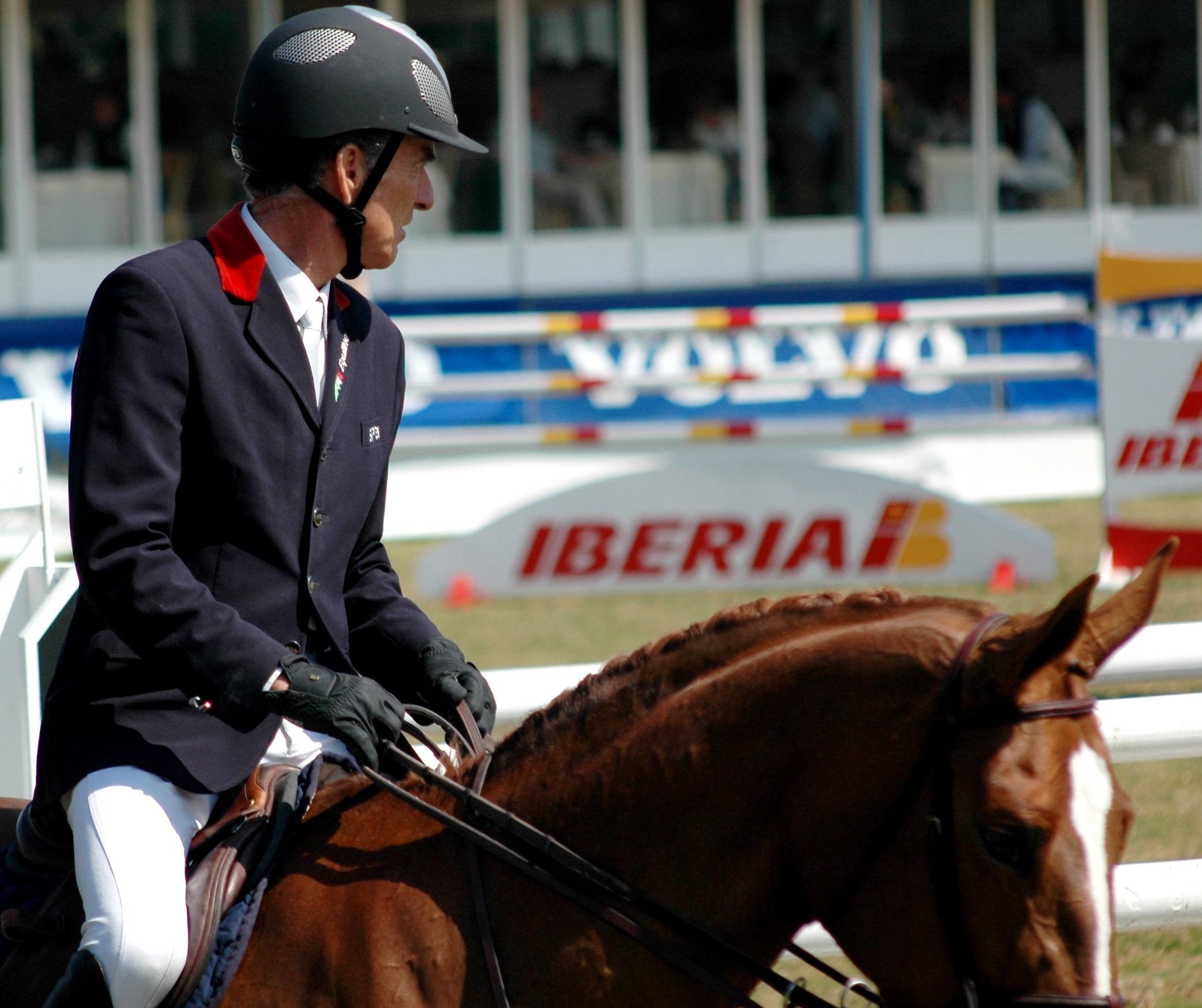 Michel Robert con M. POMPAOUR en Montenmedio