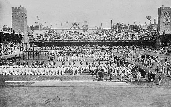 El estadio olímpico de Estocolmo 1912